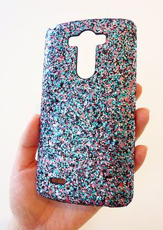 So Sparkly LG G3 Multicolor Specks Sequin Bling Cell phone Case by Yunikuna