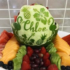 Our custom watermelon carvings are a great unique choice for dessert catering for any event including birthdays, christenings and baby showers, and can be styled to suit any party theme. Watermelon Carving Easy, Watermelon Designs, Egg Decorating, Food Art, Easter Eggs, Catering, Sydney, Creativity, Friends