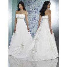 Elegant A-Linie Satin Empire Brautkleider  Hochzeit in der Halle
