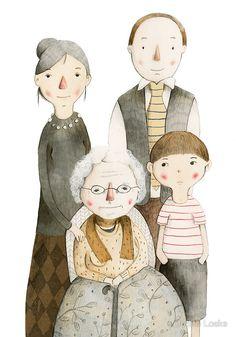 Family Portrait II by Judith Loske