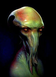 Creatures by Simon Webber// Well isn't he a charmer Alien Creatures, Fantasy Creatures, Creature Feature, Creature Design, Cthulhu, Alien Character, Dragons, Alien Concept Art, Alien Design