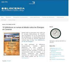Apoyo a las III Jornadas BiblioSolidarias desde el blog de la Biblioteca de Química y Biología de la Universidad de La Laguna. Fuente: blogdequimicaybiologia.blogspot.com.es/