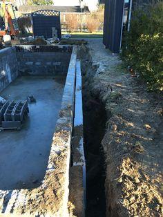 Isolering af betonpool