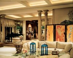 Neutral Traditional Living Room   Eclectic > Living Rooms   LUXE Source