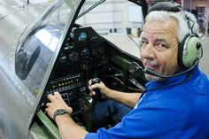 Pilot Patrick Hutchins sits in the cockpit of a vintage P-40 housed at the Texas Flying Legends Museum at Ellington Airport and typical of the warbird that he will fly in Wings Over Houston. Photo: Kirk Sides / © 2016 Kirk Sides / Houston Community Newspapers