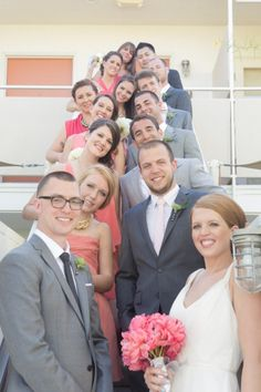 Like this vertical shot of the wedding party! Photography By valeriaduque.net