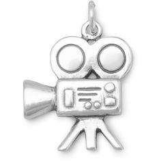 Movie camera charm (73.105 COP) ❤ liked on Polyvore featuring jewelry, pendants, sterling silver jewelry, charm jewelry, sterling silver jewellery, sterling silver charms pendants and sterling silver charms