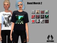 Band Merch 2 tees at MXFSims • Sims 4 Updates