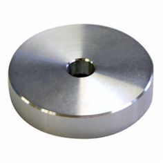 """Kun 7,60£ ...The Technics flat silver classic shaped 45 RPM adapter is for 7"""" records. It can be used with SL 1200/1200MK2/M3D/MK5G turntables. Technics EP 45 Adapter"""