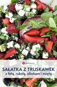Caprese Salad, Cobb Salad, Feta, Polish Recipes, Best Dishes, Superfoods, Diet Recipes, Food To Make, Food And Drink
