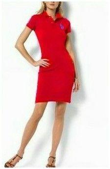 shop ralph lauren! Nouvelle Mode Polo Ralph Lauren Robe en Coton 1702 Rouge bff12353f45