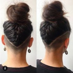 30 Awesome, Completely Hideable Undercut Designs for Secret .- 30 Awesome, Completely Hideable Undercut Designs for Secret Rebels Undercut Hairstyle Idea: The Defined V - Undercut Hairstyles Women, Short Hair Undercut, Undercut Women, Medium Undercut, Shaved Hairstyles, Undercut Styles, Shaved Undercut, Nape Undercut Designs, Undercut Natural Hair