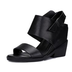 BalaMasa Girls Classic Solid Composite Black Cow Leather Sandals ^^ Additional details at the pin image, click it : Hiking sandals Black Cow, Hiking Sandals, Cow Leather, Chunky Heels, Summer Shoes, Leather Sandals, Me Too Shoes, High Heels, Just For You