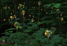 luces bolas jardín originales amarillas
