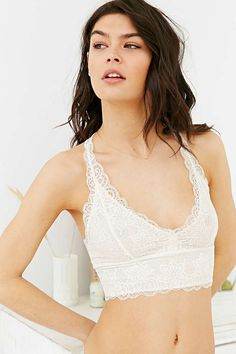 Out From Under Allover Scallop Lace Racerback Bralette - Urban Outfitters