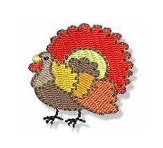 Mini Turkey   Mini Designs   Machine Embroidery Designs   SWAKembroidery.com Bunnycup Embroidery