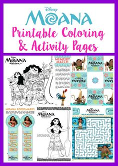 Walt Disney Animation Studios' MOANA Printable Coloring and Activity Pages are the perfect fun addition to the fun film everyone loves.