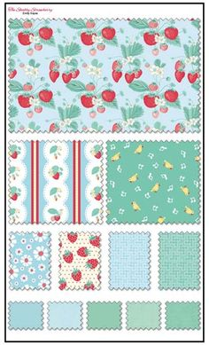 The Shabby Strawberry by Emily Hayes for Penny Rose Fabrics—Subscribe to our newsletter at http://www.rileyblakedesigns.com/newsletter/