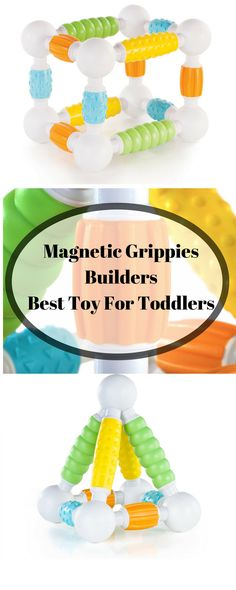 Grippies Magnetic Builders. building blocks for toddlers, Toddlers, Toddler activity, Toddler play , Preschool , Baby , STEM, Educational, Kids, Education, Baby Shower, Sensory toys for toddlers