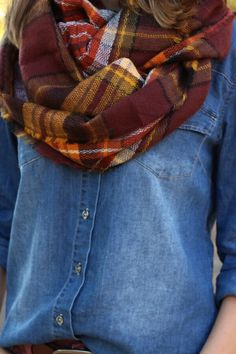 Look by M Sammie Plaid Infinity Scarf - love this for my December fix! Love infinity scarves and the colors of this scarf!!