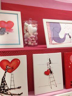 Cuadros y láminas con mensajes de amor y amistad para habitaciones infantiles
