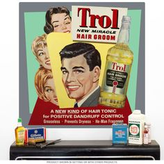 Add some retro style to your bathroom or barbershop with this Trol Hair Groom Wall Decal. Vintage-style wall sticker sports vintage-style art and gorgeous colors that pop on any wall. Removable decal makes a great gift for anyone who enjoys unique retro style.