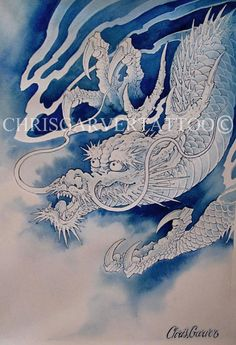 @BrooklynCNG - Tattoo Blue Dragon  ©Chris Garver