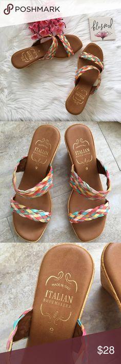 Poshmark Sandals Blushonme Flat Faux Slip At On Description
