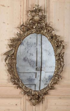 (via Antique Italian Baroque Giltwood Mirror | Gilded Mirrors | Inessa Stewart's Antiques)