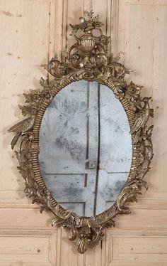 (via Antique Italian Baroque Giltwood Mirror | Gilded Mirrors | Inessa Stewart's Antiques)