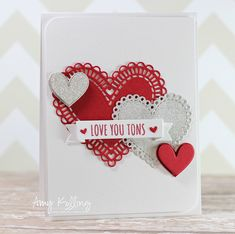 Created by Amy Kolling using Brand New Exclusives by Simon Says stamp from their Valentine Release.  December 2013