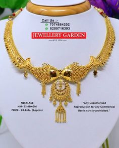How To Clean Gold Jewelry With Vinegar Light Weight Gold Jewellery, Clean Gold Jewelry, Gold Necklace Simple, Gold Necklaces, Gold Costume Jewelry, Indian Jewelry, Bengali Jewellery, Gold Jewellery Design, Jewelry Patterns