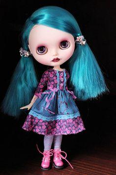 OOAK Blythe  Sapphire  Custom Blythe doll