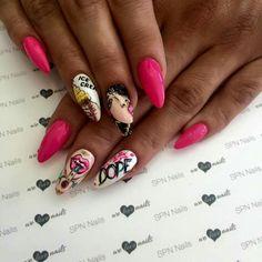 SPN UV LaQ 561 Night in Miami, 502 My wedding dress.  Nails by Alesia, Lejdis Nail Spa, SPN Team Zielona Góra ❤  #nailart #naildesign #nails #spnnails #paznokcie