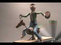 Cowboy on a Horse Whirligig - YouTube