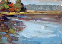 Cooper River, November by Susan Mayfield Oil ~  x