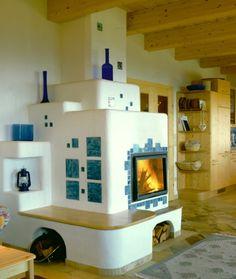 Kachelöfen von BIOFIRE | Ihr Kachelofen Experte Exterior Design, Interior And Exterior, Rocket Mass Heater, Cute Apartment, Stove Fireplace, Wood Burner, Cabins And Cottages, Cozy Cabin, Cottage Style
