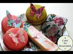 How to decorate store bought cookies with floral wafer paper.