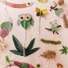 Bush puppets DIY for new issue of / beautifully photographed by (Echidna at the end was my fav! Diy Craft Projects, Projects For Kids, Crafts For Kids, Preschool Projects, Craft Ideas, Art Activities For Kids, Art For Kids, Land Art, Creative Kids