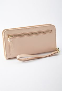 Faux Leather Wallet Wristlet