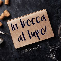 Frase della settimana / Phrase of the week: In bocca al lupo! (Good luck!) To find out more about this phrase and hear the pronunciation, visit Daily Italian Words. #italian #italiano #italianlanguage #italianlessons Italian Grammar, Italian Vocabulary, Italian Phrases, Italian Words, Italian Quotes, Italian Language, Spanish Language, Latin Phrases, Korean Language