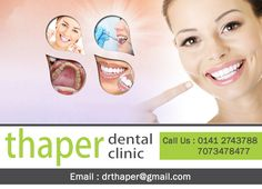 """""""Because of Your Smile, You Make Life More Beautiful."""" To get appointment please visit us : www.thaperdentalclinic.com Or Contact us- 7073478477, 7073478479  Branches - B 45 Sahkar Marg and Johari Bazar #thaperdentalclinic #jaipur #dentist #saycheese #DrRajeevThaper #DrReenaThaper #smile"""