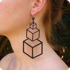 Brinco 21 gramas   #rubber_jewelry #jóias_de_borracha