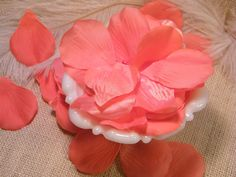 Coral Peach Artificial Rose Petals, Flower Girl Petals, 100 Premium Rose Petals, Silk, DIY Wedding Decor,  2 inch Rose Pedals, Embellishment...