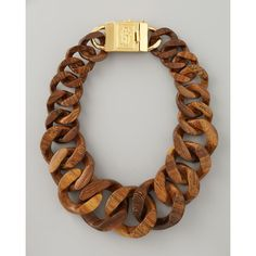Tory Burch Graduated Wooden Chain Necklace........ love!
