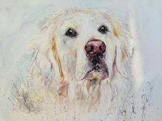 Nicola Jane Rowles Art - Golden Retriever Country Farm, Dogs, Animals, Art, Art Background, Animales, Animaux, Kunst, Animal Memes