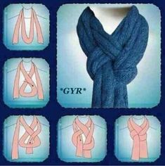 The new way I'm going to tie my scarf.