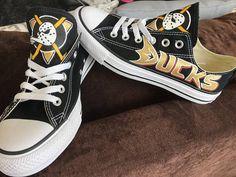 5db6e8458852 Custom Anaheim Ducks men and women hockey shoes