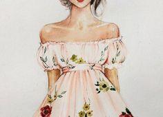 Sketch of dress of fashion designer 6