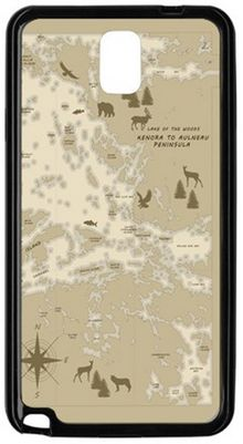 Aulneau Peninsula, Map, Beige, Phone case ★ Every item you buy from Friends of Lake of the Woods Gift Shop directly supports worthwhile local causes. The more you buy, the more you give.
